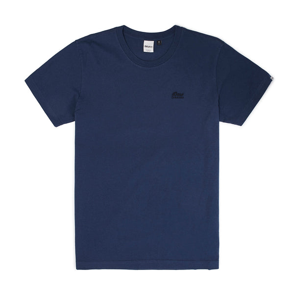 Standard Embroidered Tee - Navy