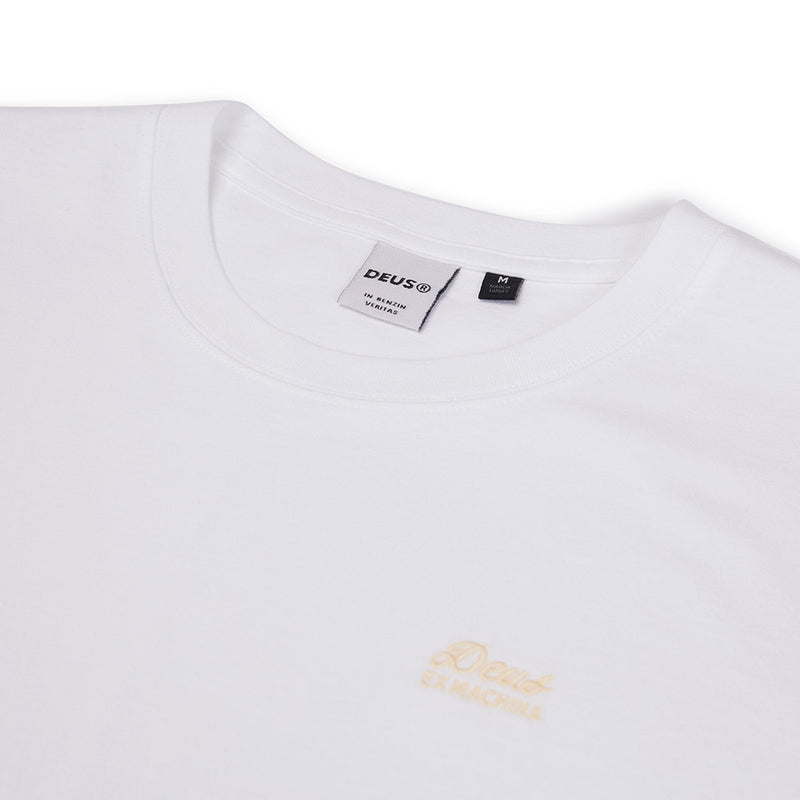 Standard Embroidered Tee - White