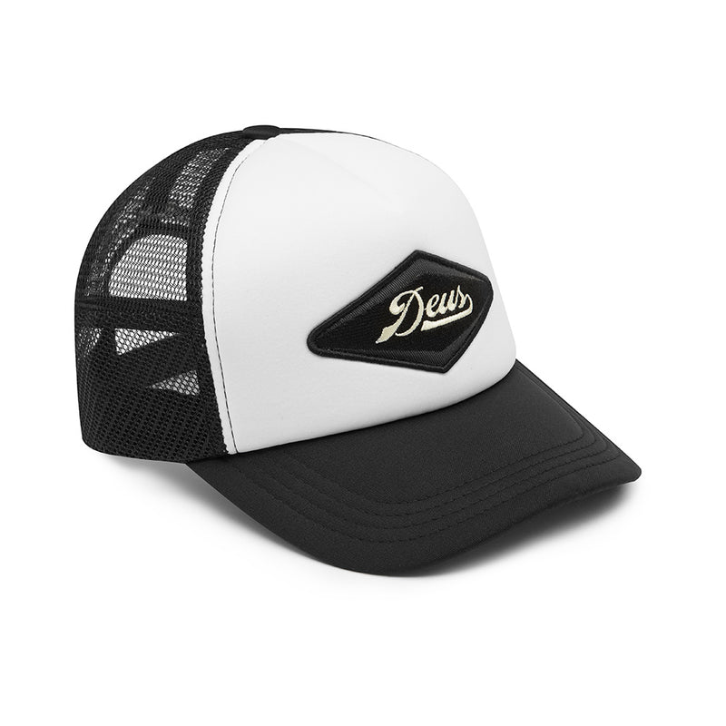 Diamond Trucker Hat - Black White