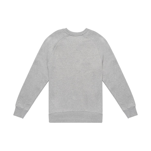 Curvy Crew Sweater - Grey Marle