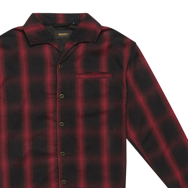 Zeus Plaid Shirt - Red Check