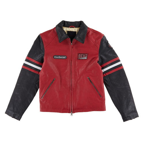 The Racer Jacket - Chilli Red