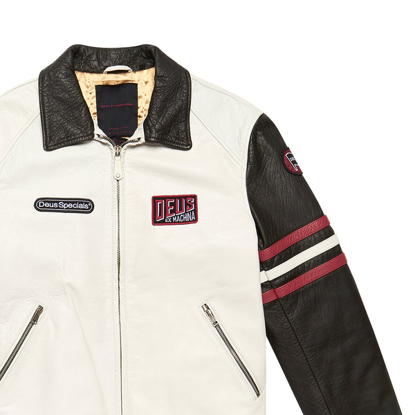 The Racer Jacket - Vintage White