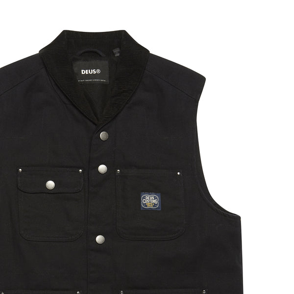 Earl Canvas Vest - Black