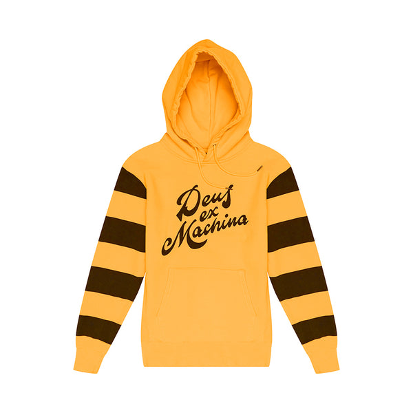Brooks Stripe Hoodie - Butterscotch Yellow