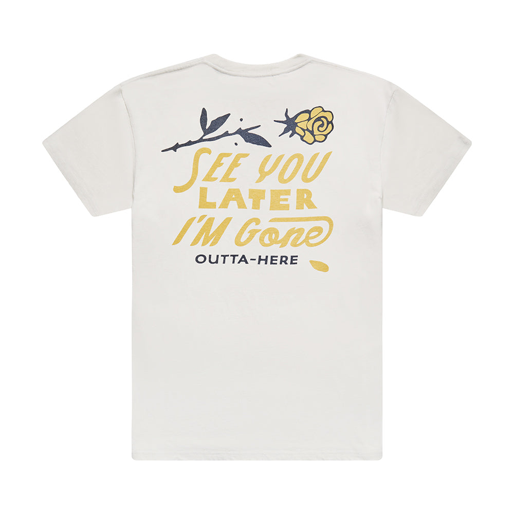 See You Tee - White Chalk
