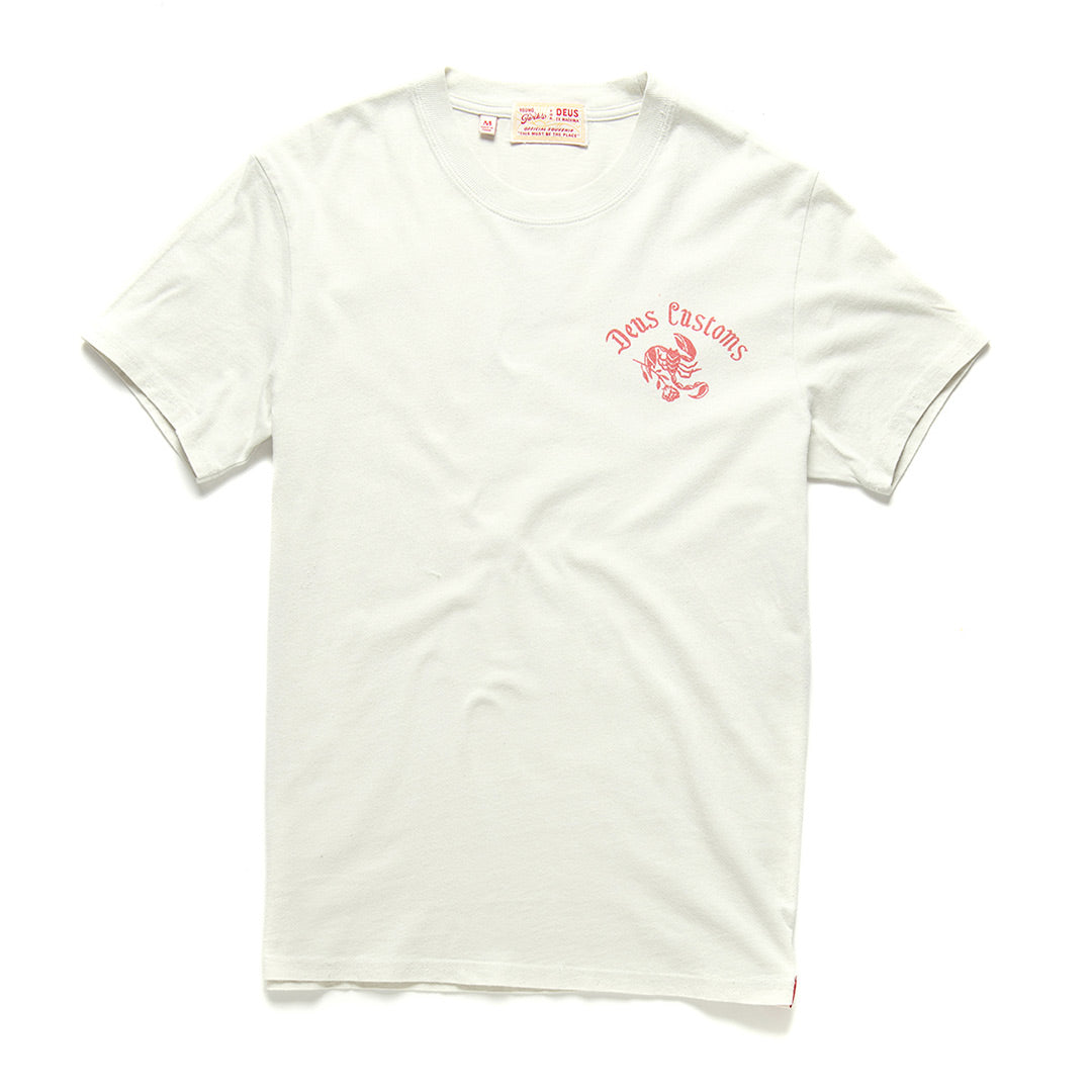 Paradise Frowned Tee - White Chalk