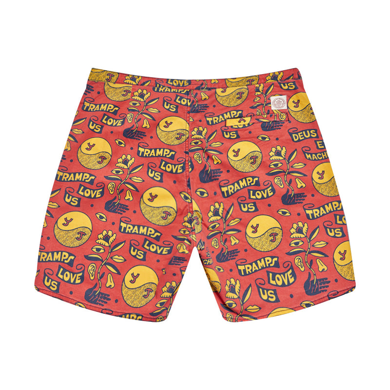 Love Tramp Boardshort - Red Molten