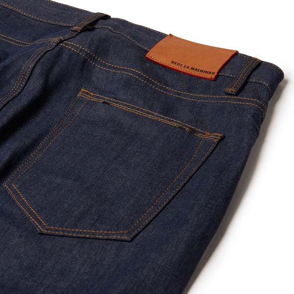 Alma Tapered - Petrol Raw Indigo