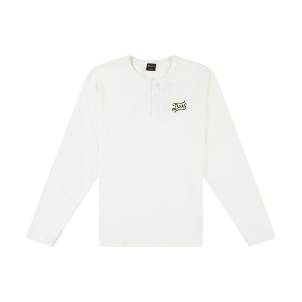 Flagged Henley Tee - Vintage White