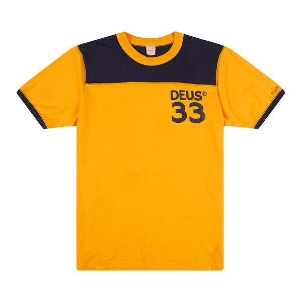 Harold Sports Tee - Golden / Navy