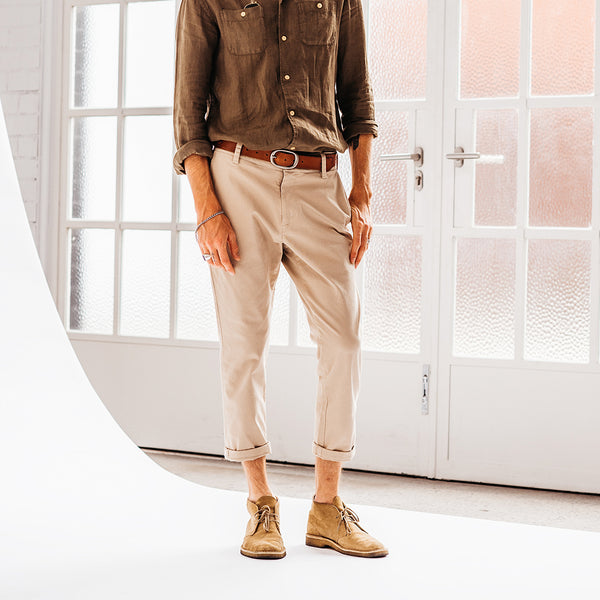 Cropped Xavier Pant - Safari