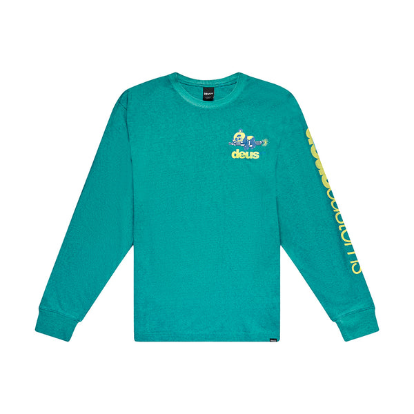 Buddy Long Sleeve Tee - Tropic Blue
