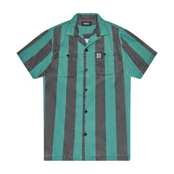 Vertigo Stripe Shirt - Tropic Blue