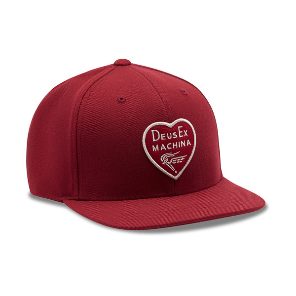 Heart Baseball Cap - Red
