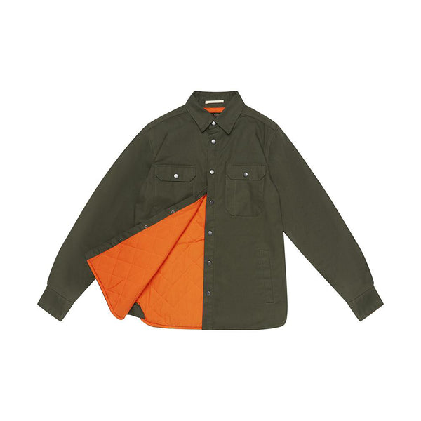 Maxwell Padded Overshirt - Forest Green