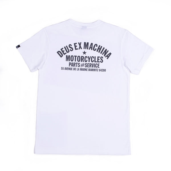Biarritz Address Tee - White