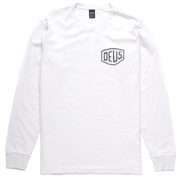 Camperdown Address Long Sleeve Tee - White