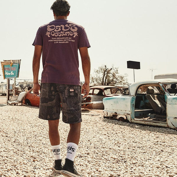 Stackwaddy Beach Short - Plum Grey