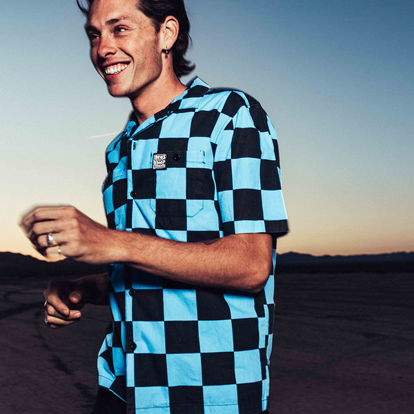 Senna Check Shirt - Blue Check