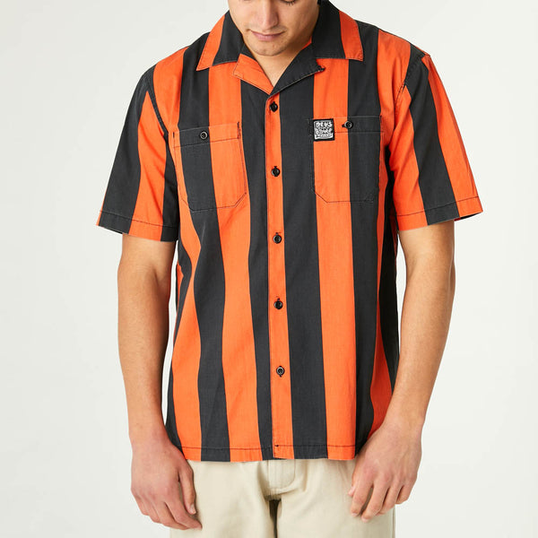Vertigo Stripe Shirt - Poppy Orange
