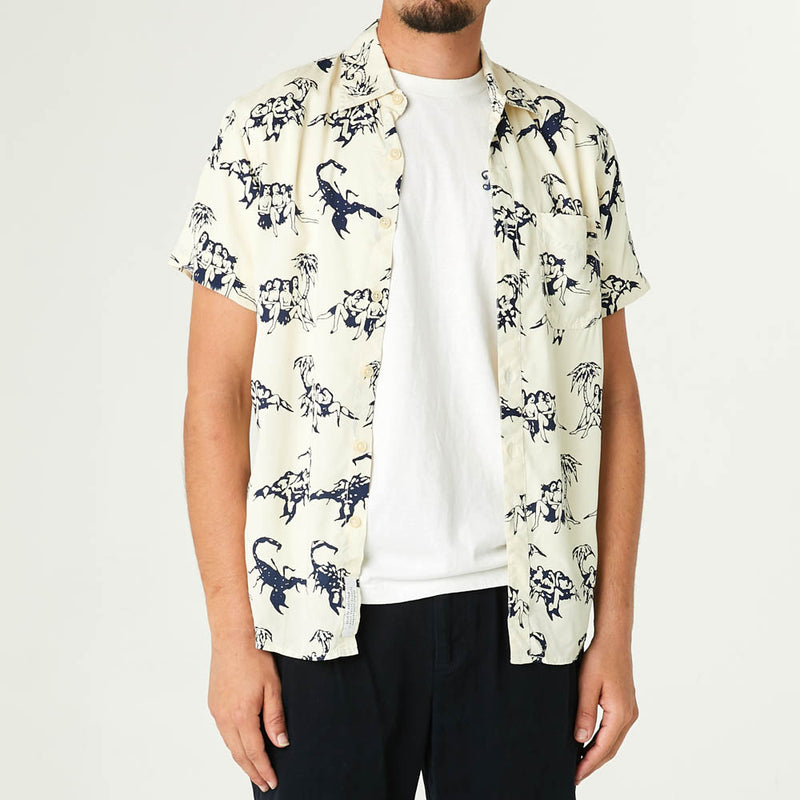 Ralph Soso Shirt - White-Blue