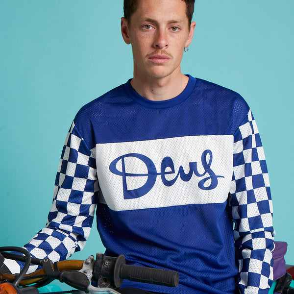 Catch Hell Moto Jersey - Blue Combo