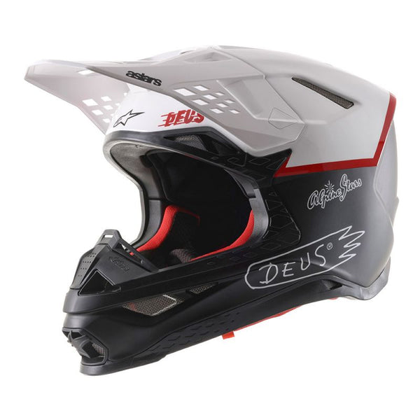 S-M8 Helmet Dot - Black / White / Deep Red