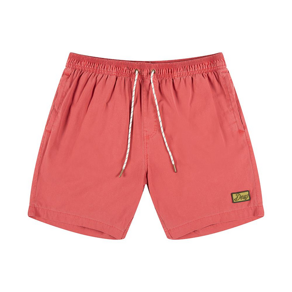 Sandbar Solid Garment Dye Boardshort - Red Clay