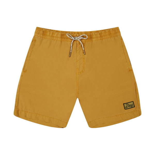 Sandbar Solid Garment Dye Boardshort - Golden Rod