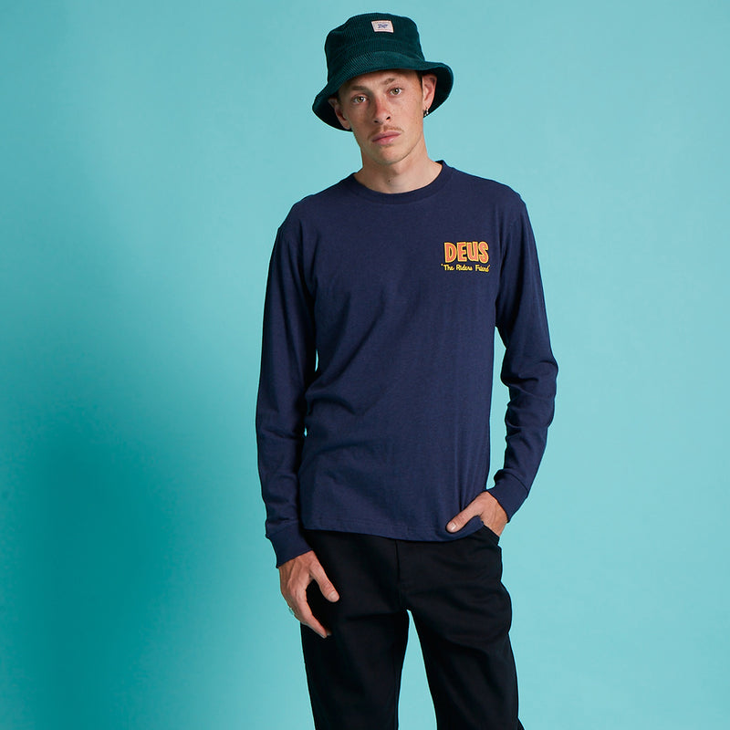 Walrus Long Sleeve Tee - Navy Marle