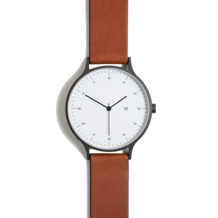 Instrmnt Watch - Gun Metal/Tan