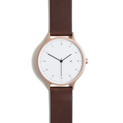 Instrmnt Watch - Rose Gold/Brown