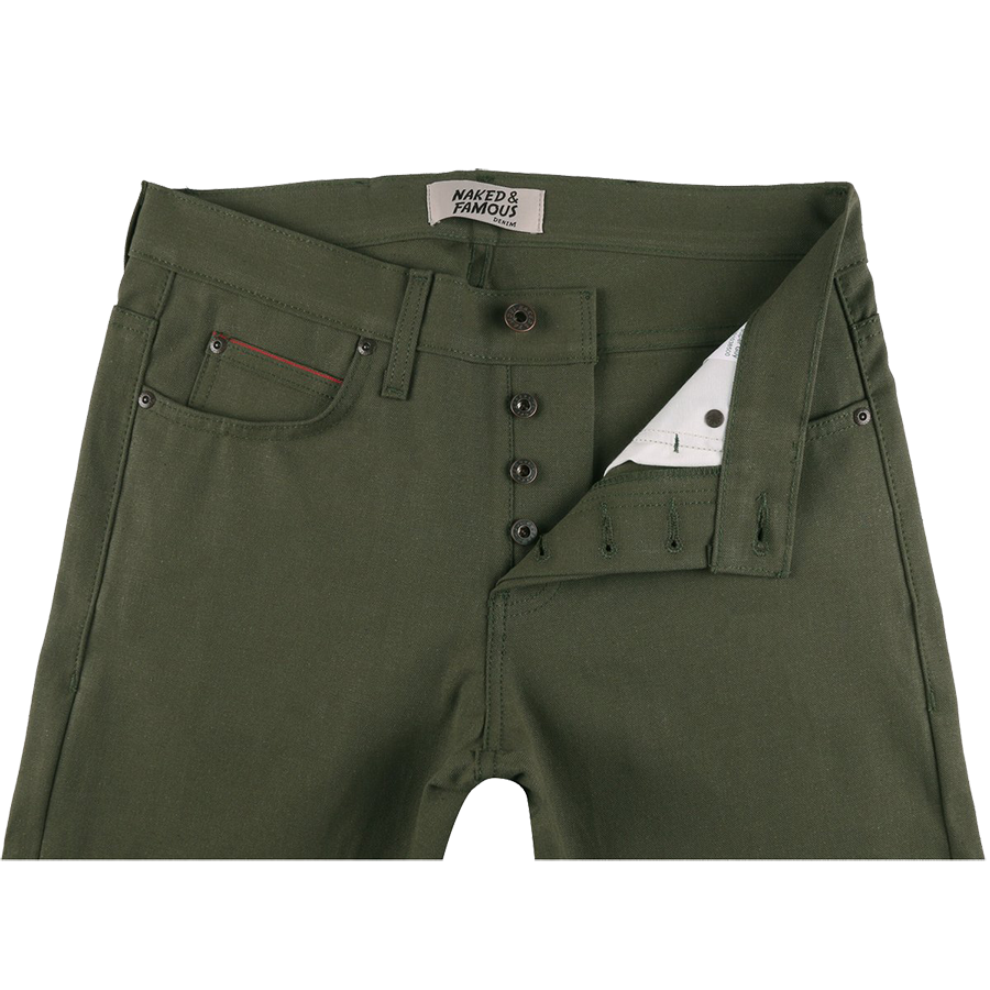 10oz - Army Green Duck Selvedge - Super Guy