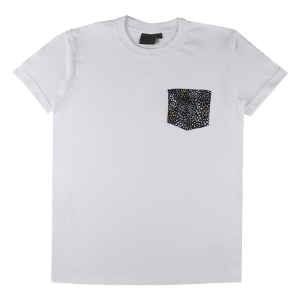 Allover Flowers Pocket Tee - White