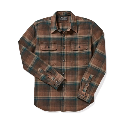 Vintage Flannel Work Shirt - Chocolate/Green/Tan