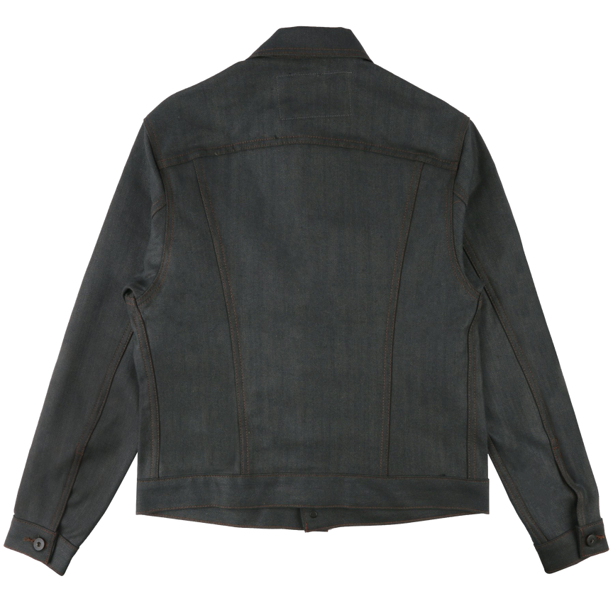 12.5oz - Hunter Stretch Selvedge Denim Jacket - Dark Green