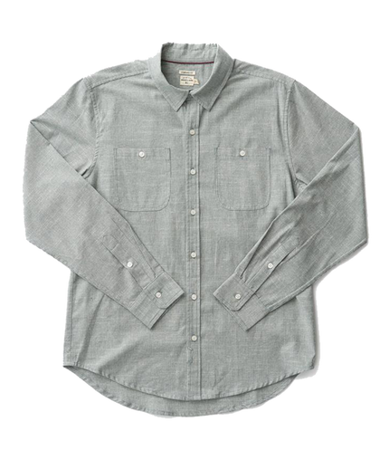 Winslow Button Up - Olive Pinstripe