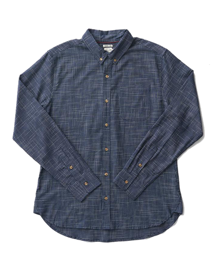 Sutton Button Down - Navy Grid