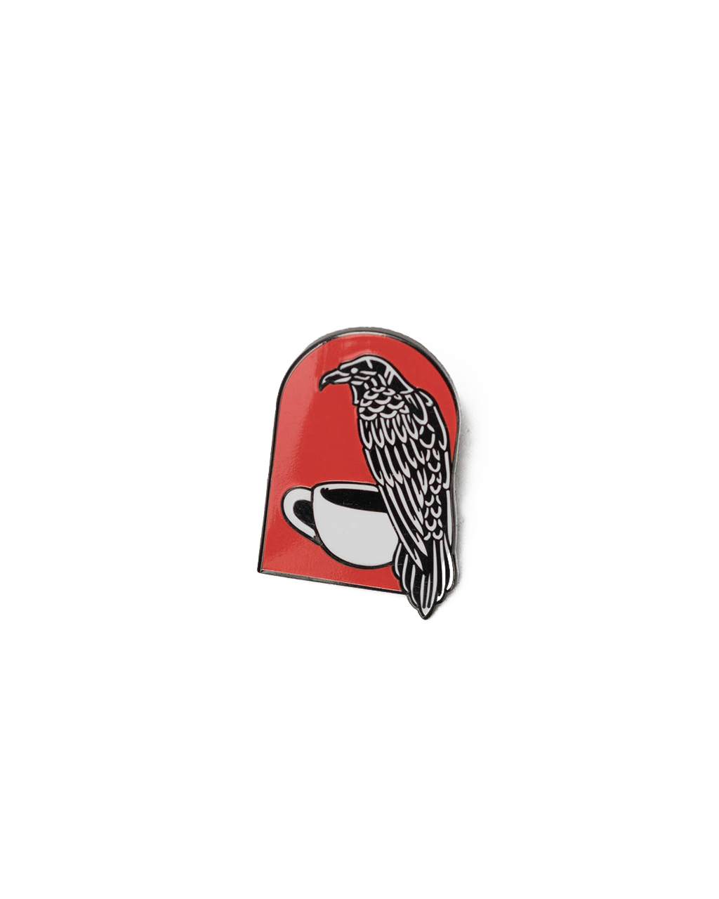 Coffee Crow Pin
