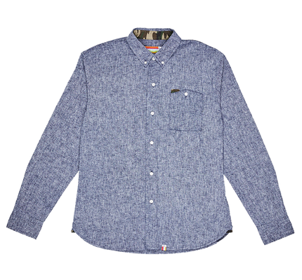 Merlo L/S Button Down - Navy
