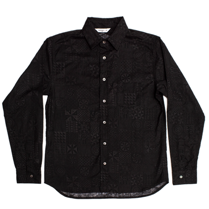 BD Shirt - Black Geo Print