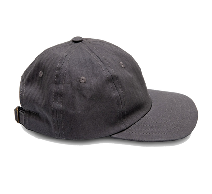 6-Panel Herringbone Twill Cap - Charcoal
