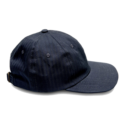 6-Panel Herringbone Twill Cap - Navy