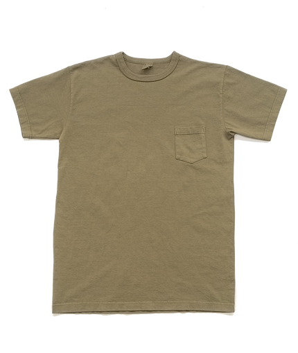 Garment Dyed Pocket Tee - Military Green