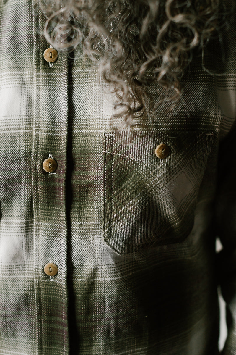 Utility Shirt - Moss Brushed Flannel