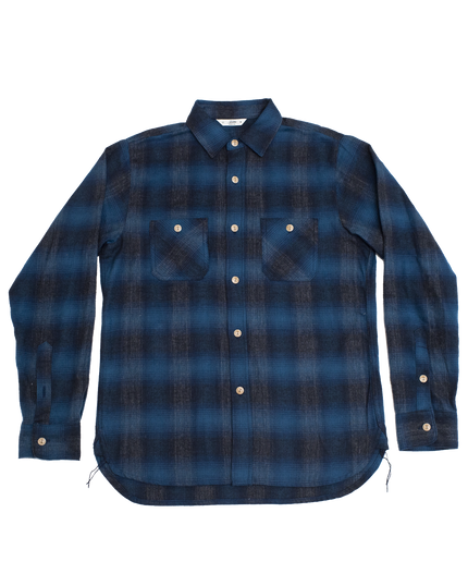 Utility Shirt - Navy/Black Ombre