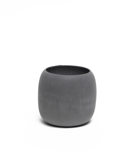 High Concrete Bowl Dark Grey
