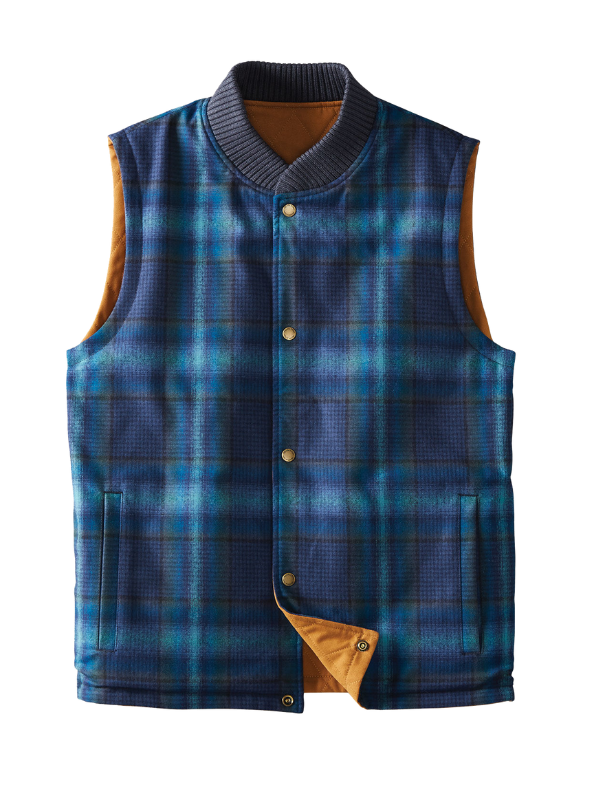 Reversible Canvas Vest - Tan