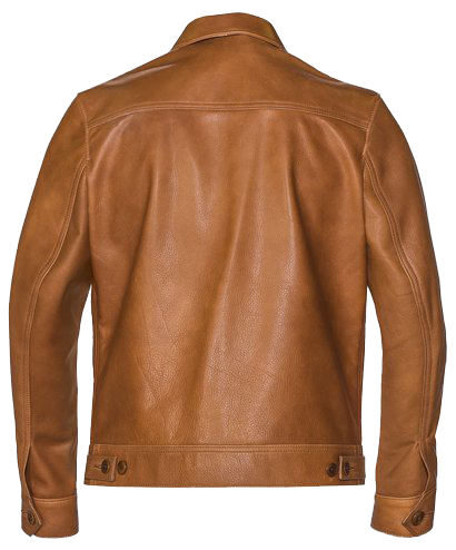575 - 70's Unlined Waxy Cowhide Leather Delivery Jacket - Rust